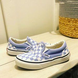 Toddler VANS sz 11 blue checkered